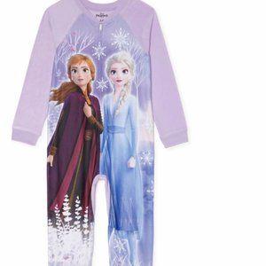 NWT 10 12 Frozen Anna Elsa sleeper pajamas holiday
